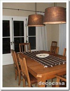 Foto Comedor Mesa madera y pantallas